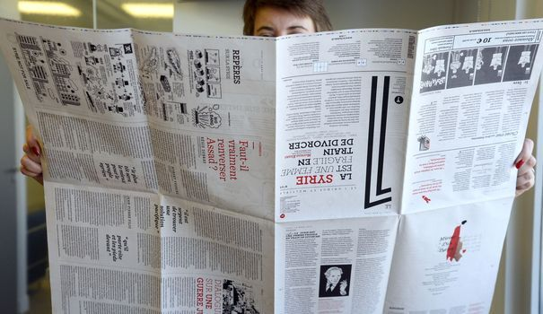 """""""Le 1"""" et son format géant (afp.com/Bertrand Guay)"""