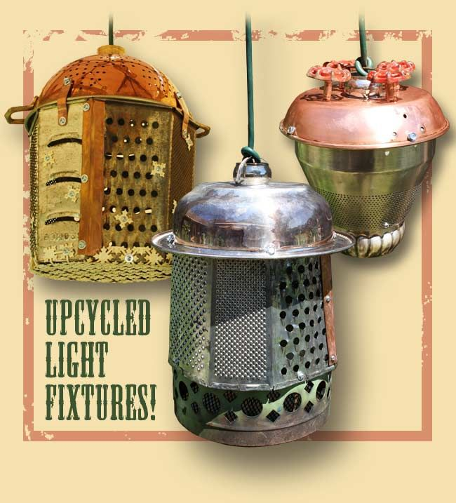 10 best images about graters on pinterest upcycling vintage and cheese - Recycled light fixtures ...