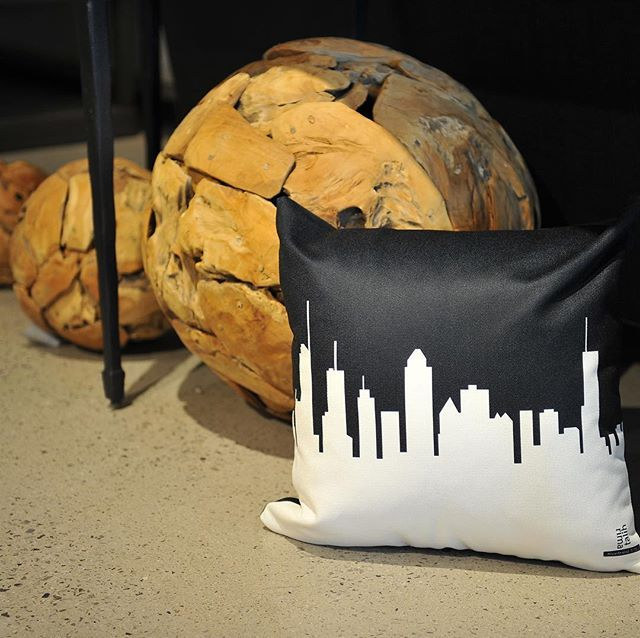 """""""Montreal Pillow in black and white @rimatalihdesigns 