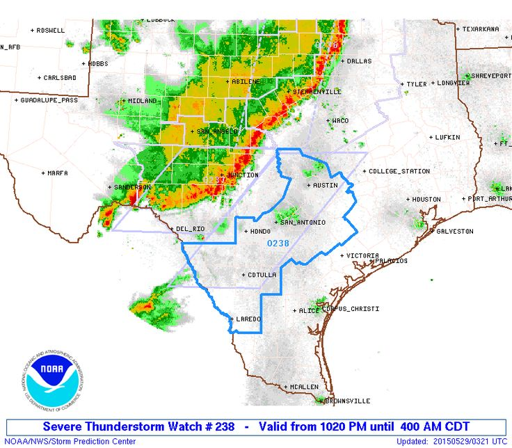 1025PM: Severe Thunderstorm Watch for South-Central Texas until 4 AM. This includes the entire Austin and San Antonio Metropolitan areas plus surrounding counties. A squall line with embedded severe thunderstorms will continue to move east/southeast at 40-45 MPH this evening. As the storms continue to move east they should slowly weaken - but it looks like we'll have to deal with gusty winds into the overnight hours. Flash flooding is also a significant concern for obvious re