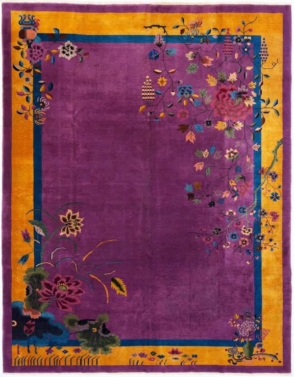 This Striking Antique Wool Art Deco Rug Was Handwoven In China 8999 5699