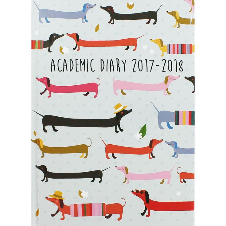 Buy A5 Sausage Dog Print Academic Diary 2017-2018 - Day A Page  online from The Works. Visit now to browse our huge range of products at great prices.