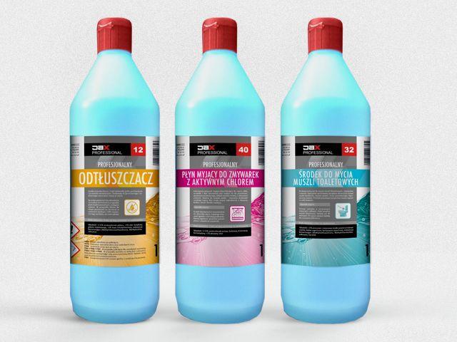 Komplet etykiet na środki chemiczne dla firmy JAX PROFESSIONAL
