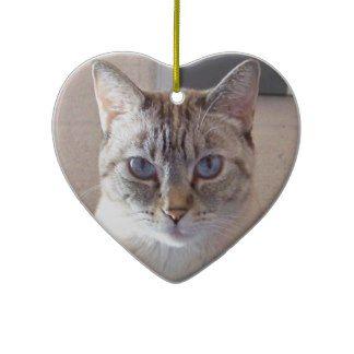 Christmas Ornament - Pretty Siamese Cat