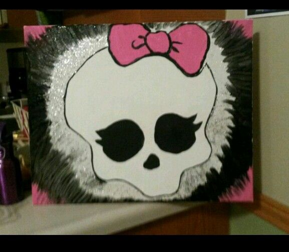 Painted On Canvas...monster High Bedroom Decor.