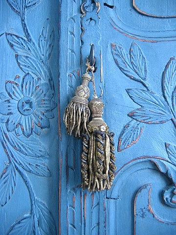 french marriage armoire and tassels...