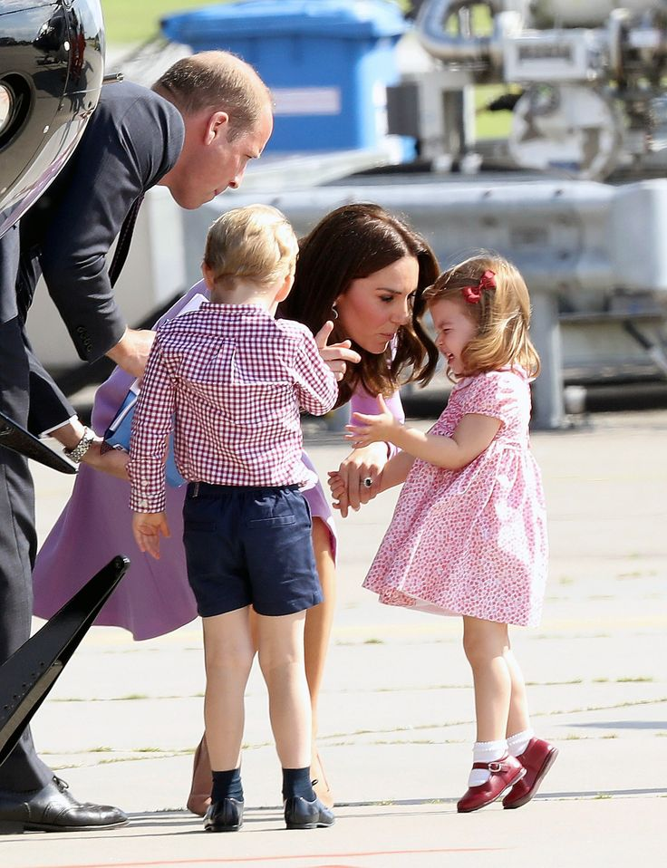 William, Kate, George and Charlotte Head Home After Whirlwind Tour