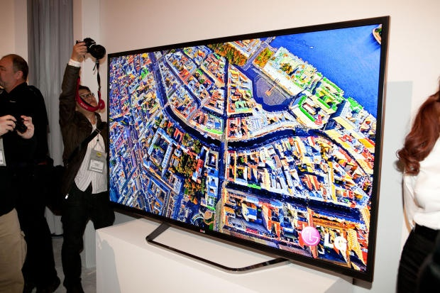 A gooorgeous 84-inch LG 4K.UHD TV on display at the press event. Too bad it costs $20,000