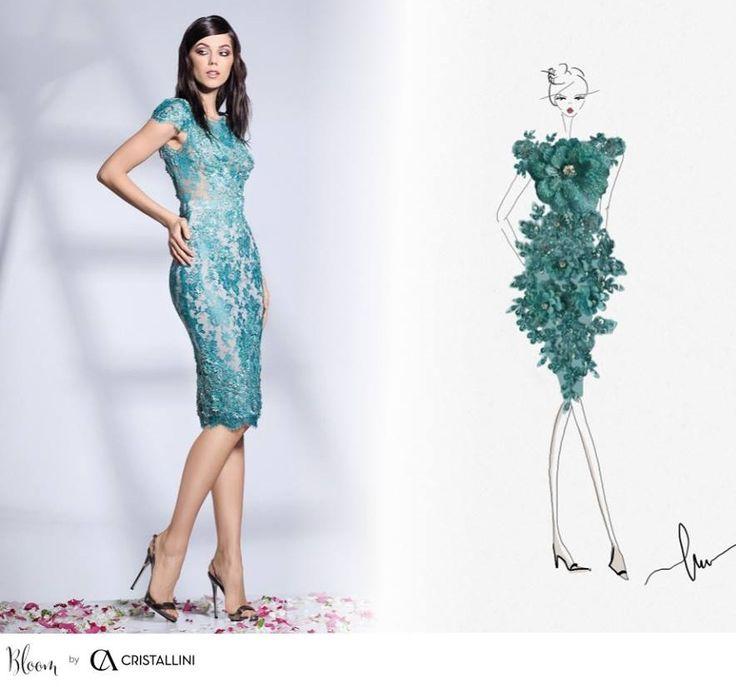 CRISTALLINI #sketch #cocktail #fashion