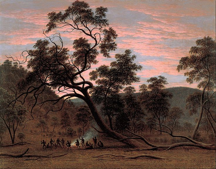 John Glover, Corroborree, Van Diemens Land, Tasmania