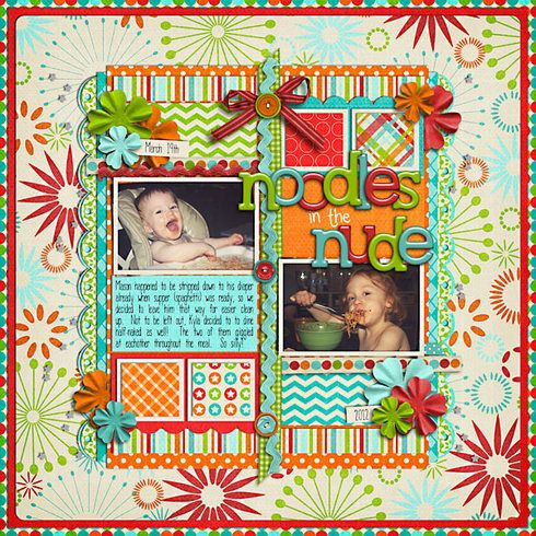 Noodles in the Nude, layout by mfallisScrapbook Ideas, Scraplifting Ideas, Bella Gypsy, Cards Ideas, Scrapbook Stores, Digital Scrapbook, Scrapbook Projects, Scrapbook Layout, Scrap Ideas