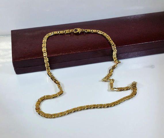 Gliederkette Halskette Silber 925 vergoldet selten von Schmuckbaron