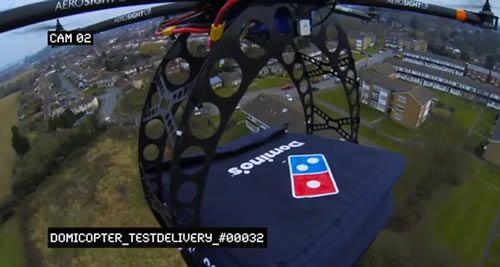 Domino's Pizza teste la livraison de pizzas par drone