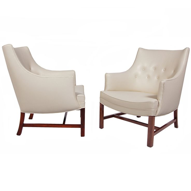 pair of frits henningsen easy chairs