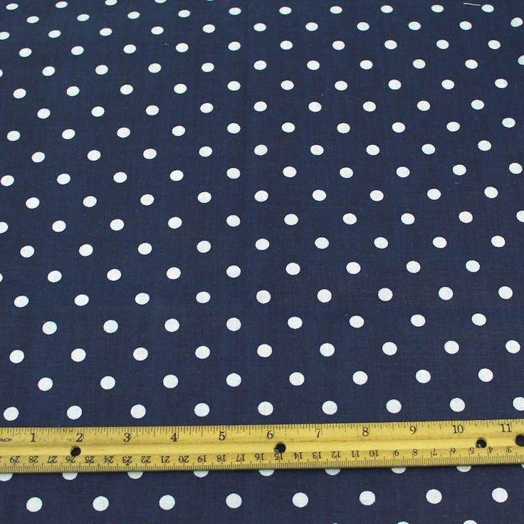 Mini Polka Dot Fabric Printed Woven Fabric Navy Background White Polka Dots $5/yd
