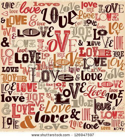 Typographic Valentines Day Design by Vilmos Varga, via Shutterstock