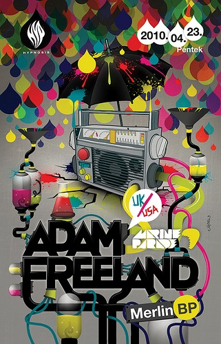 Adam Freeland flyer