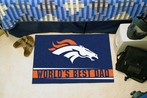 "Denver Broncos World's Best Dad Starter Area Rug Floor Mat 20"""" X 30"""""