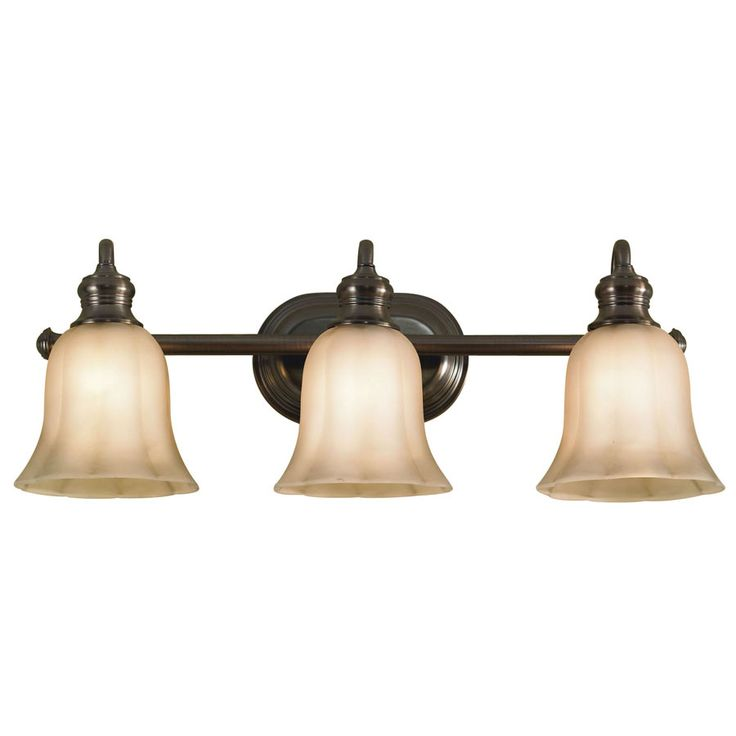 shop allen roth 3 light rubbed bronze bathroom 26516