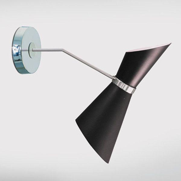 Art. 2399/P Tribute to Europa Design Applique in alluminio verniciato con braccio e fondello in ottone cromato