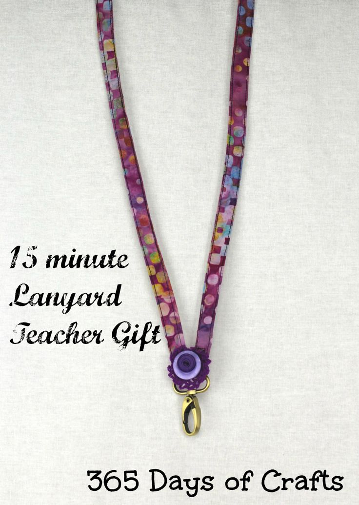 Take 15 minutes out of your day to make a lanyard gift for your kids' teachers with this quick and easy tutorial from 365 Days of Crafts. It's perfect for holding ID cards and keys.