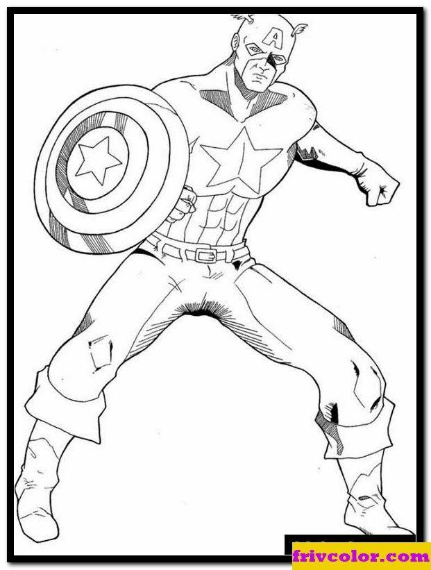 Captain America Coloring Sheet Captain America 22 Friv Free Coloring Pages For Children In 2020 Captain America Coloring Pages Avengers Coloring Pages Coloring Pages