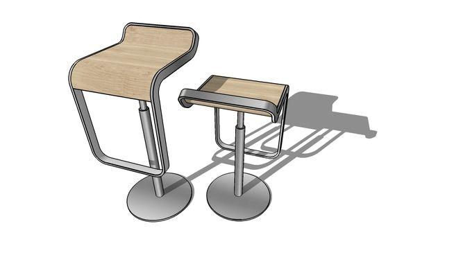 Lapalma LEM barstool - 3D Warehouse