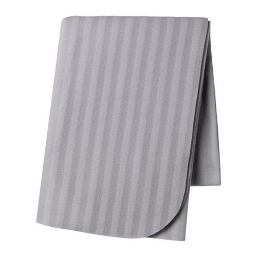 IKEA VITMOSSA Throw Grey 120x160 cm The fleece throw feels soft against your skin and can be machine washed.