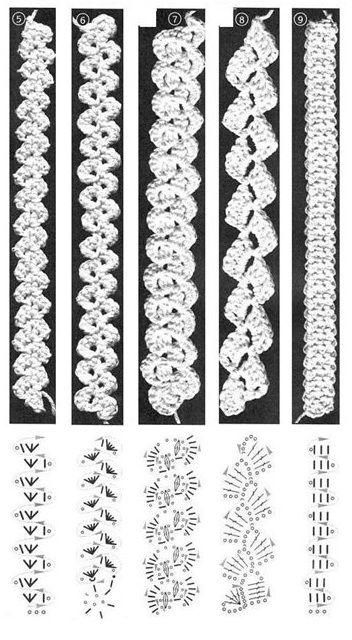 Схема тесьмы для бретелей купальника