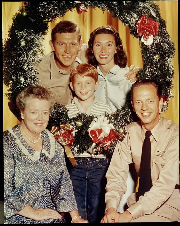 Andy and cast The andy griffith show, Christmas tv shows