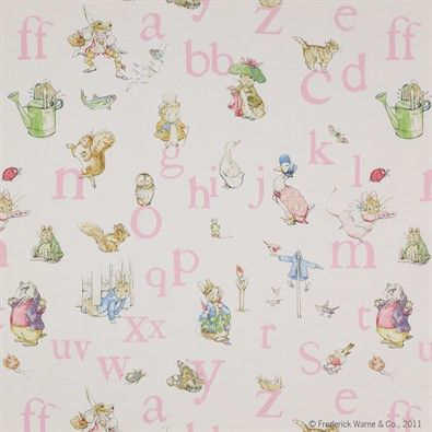 Wallpaper  // if I would have come upon this before Gigi was born I would have done Gigi's bathroom in this. So sweet!