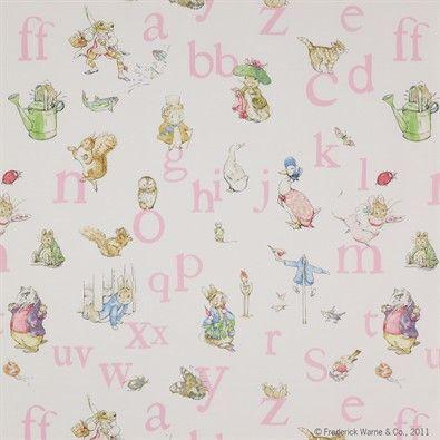 Beställ tyget Alphabet Beatrix Potter multi från Jane Churchill®.
