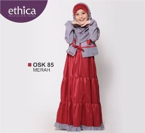 Baju Gamis Muslim Anak OSK 85 Merah - BIG SALE
