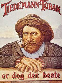 Tiedemanns Tobak plakat Norsk Folkemuseum