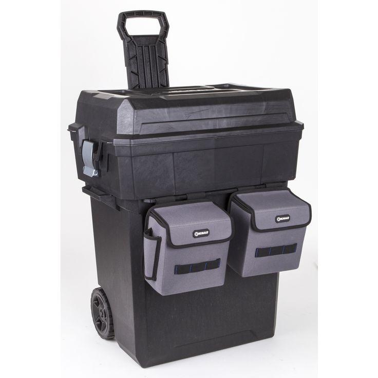 husky hand tool box. kobalt zerust 19-in black plastic lockable wheeled tool box husky hand