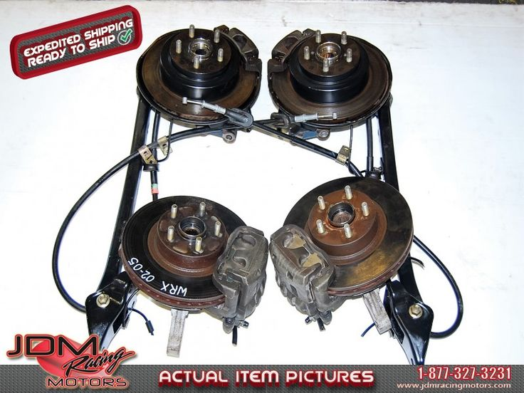 Used Imrpeza WRX 2002-2005 5x100 Complete Brake Kit with Uncut Cables.  Find this item on our website: https://www.jdmracingmotors.com/subaru/wrx-sti-parts-accessories/2409  Tags: #jdm #jdmracingmotors #jdmsubaru #subaru #subaruwrx #jdmwrx #impreza #subaruimpreza #imprezars #imprezawrx #wrxparts