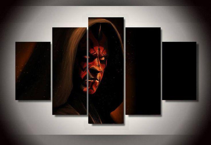5 panel Star Wars Samurai Framed Wall Canvas Art