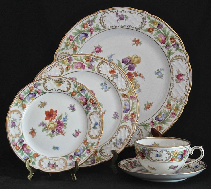 SCHUMANN CHINA EMPRESS DRESDEN FLOWERS 5 PIECE PLACE SETTING Discontinued & 20 best Schumann Bavarian China images on Pinterest | China ...