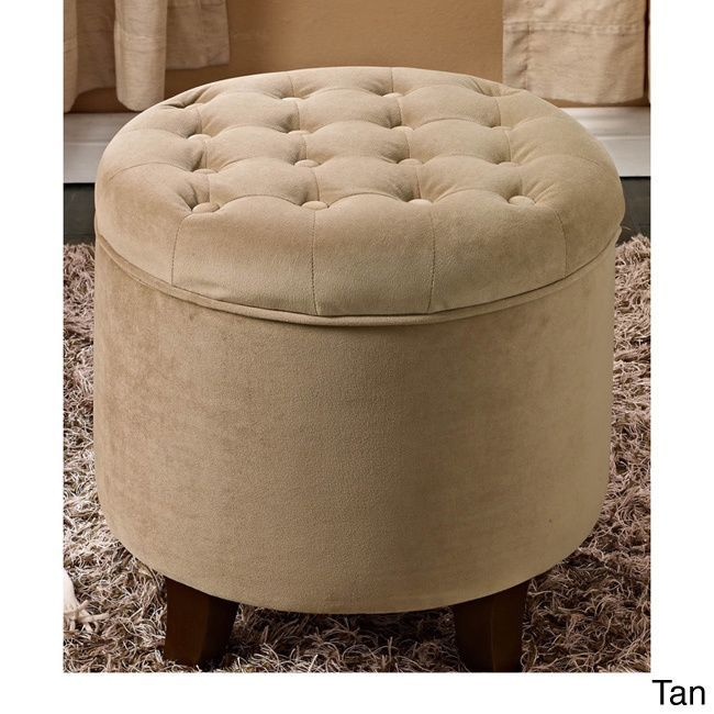 homepop large round storage ottoman by homepop