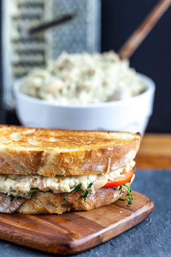 Jackfruit 'Tuna' Melt Sandwich #vegan
