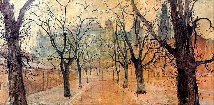 Wyspianski, Stanislaw (1869-1907) - 1894 Planty at Dawn (National Museum, Krakow, Poland) | Flickr - Photo Sharing!