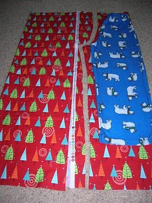 My Cotton Creations: Christmas Eve Pajama Pants tutorial- size infant to 8 years - how to create your own kids pant pattern from a pair of their pants http://mycottoncreations.blogspot.com/2010/07/christmas-eve-pajama-pants-tutorial.html#