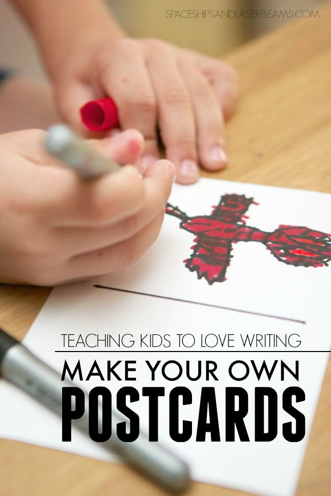 Teaching Your Kids: Make Your Own Postcards #BICFightForYourWrite AD