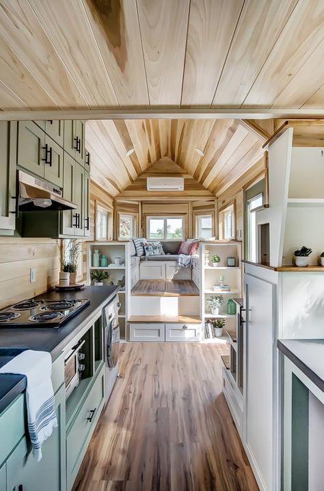 the clover tiny house on wheels by modern tiny living tiny house rh pinterest com