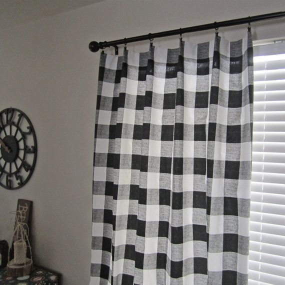 Best Plaid Curtains Ideas On Pinterest Gingham Curtains