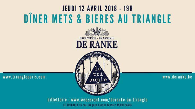 Paris Food & Drink Events: De Ranke au Triangle