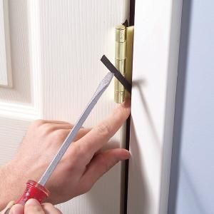 Adjusting a door that doesn't hang correctly is a frustrating experience, but there are a few tricks of the trade that can achieve miracles. Here's one of them.