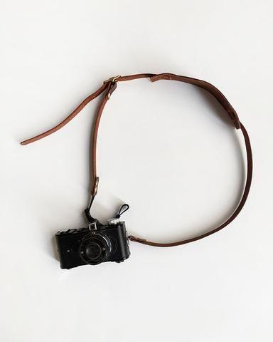Wood & Faulk Leather Camera Neck Strap / Orn Hansen    Orn Hansen    ornhansen.com