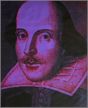 Steve Kaufman Prints for sale - Shakespeare  More info: https://www.artetrama.com/en/artworks/steve-kaufman-shakespeare  #stevekaufman #popart #shakespeare #canvas #silkscreen #fineart #prints