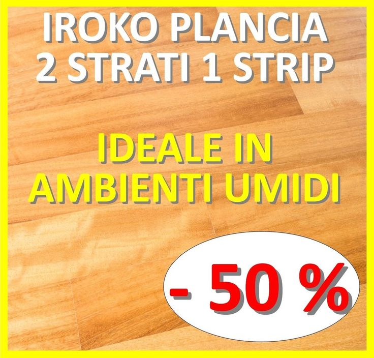 PARQUET PREFINITO 2 STRATI 1 STRIP IROKO - IDEALE IN AMBIENTI UMIDI!